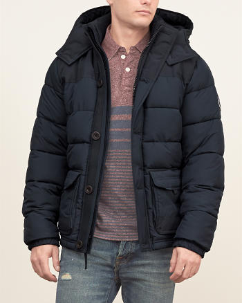 ANF Classic Hooded Puffer Jacket