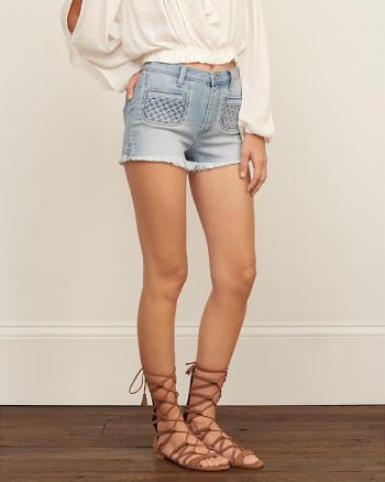 ANF High Rise 2 Inch Denim Shorts