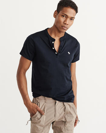ANF Icon Short-Sleeve Henley