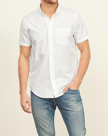 ANF Iconic Poplin Short Sleeve Shirt