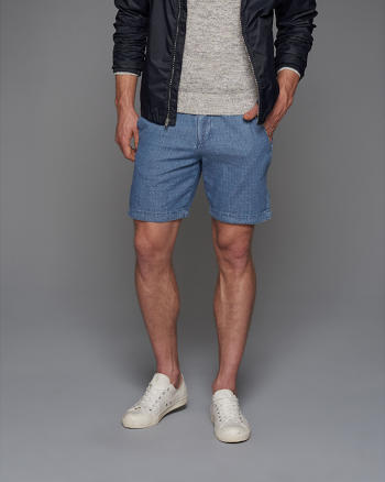 ANF A&F True Indigo Dye Preppy Fit Shorts