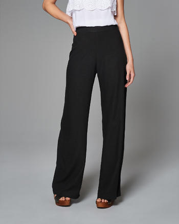 ANF Linen Wide Leg Pants