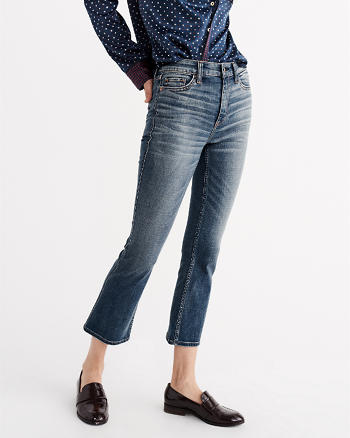 ANF High Rise Ankle Flare Jeans