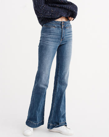 ANF High Rise Wide Leg Jeans