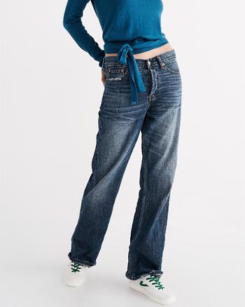 ANF Wide Leg Boyfriend Jeans
