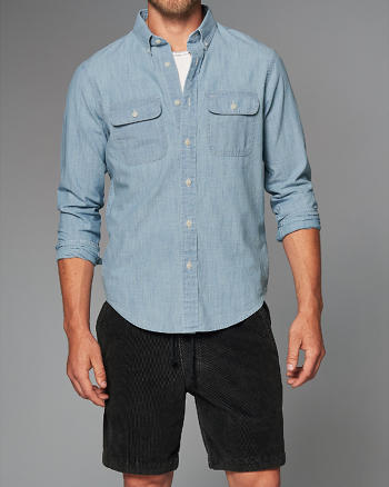 ANF Pocket Chambray Shirt