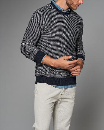 ANF Striped Roll Neck Sweater