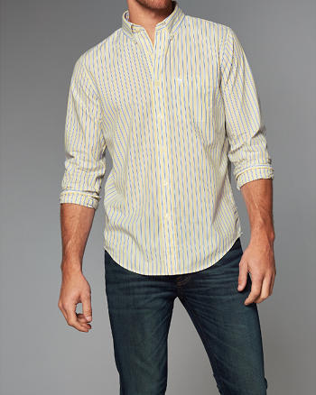 ANF Patterned Cotton Poplin Shirt