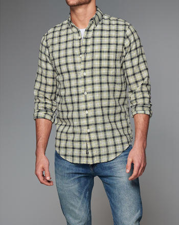 ANF Plaid Gauze Shirt
