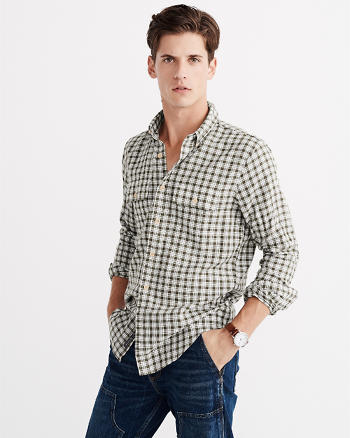 ANF Cotton-Linen Shirt