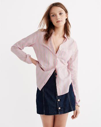 ANF Mandarin Button-Up Shirt
