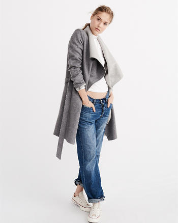 ANF Wool-Blend Wrap Jacket