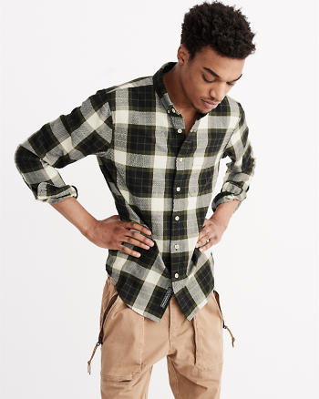 ANF Washed Flannel Shirt