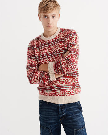 ANF Snowflake Crew Sweater
