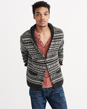 ANF Patterned Shawl Cardigan