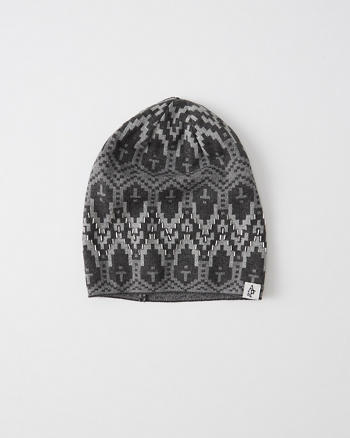 ANF Patterned Beaded Beanie