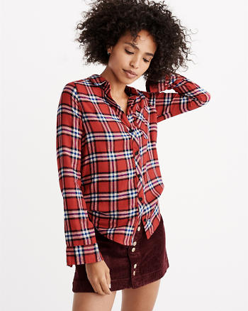 ANF A&F Signature Flannel Shirt