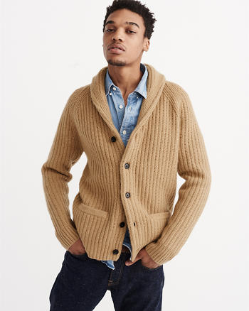 ANF Wool Shawl Cardigan