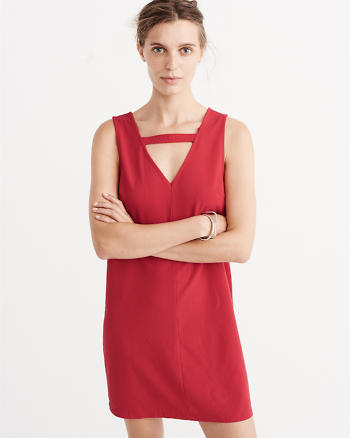 ANF V-Neck Sleeveless Dress