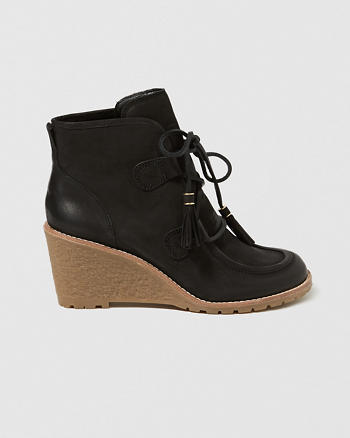 ANF G.H. Bass & Co. Teresa Crepe Wedge Boots