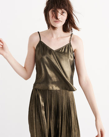 ANF Strappy Metallic Cami