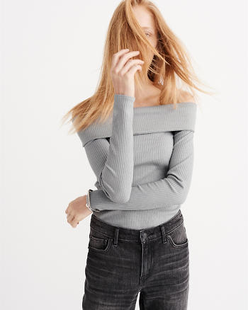 ANF Off-The-Shoulder Ribbed Top
