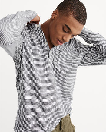 ANF Jersey Knit Henley