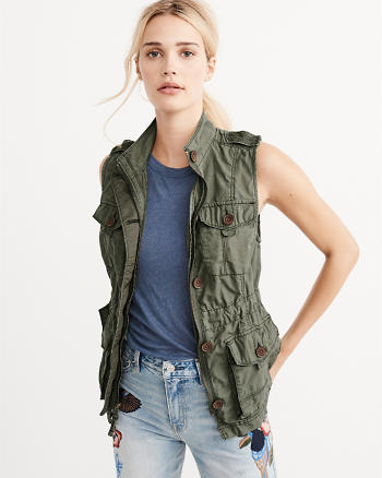 ANF Military Twill Vest