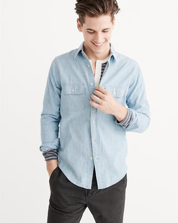 ANF Two Pocket Chambray Shirt