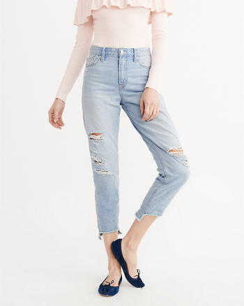 High-Rise Girlfriend Jeans