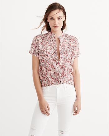 ANF Short Sleeve Button Down Shirt