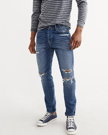 ANF Ripped Athletic Skinny Jeans