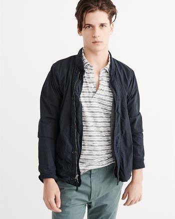 ANF Garment Dye Bomber Jacket