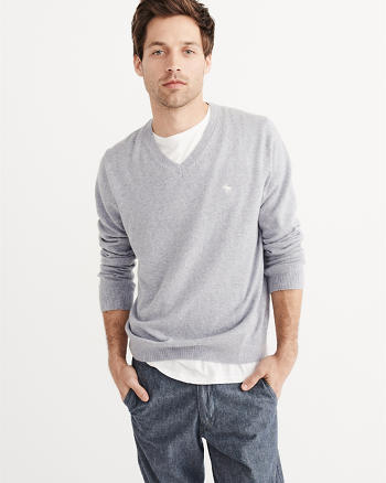 ANF Cashmere Blend V-Neck Sweater