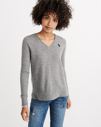 ANF Cashmere Icon V-Neck Sweater