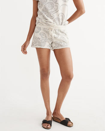 ANF Printed Fleece Shorts