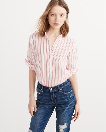 ANF Mandarin Popover Shirt