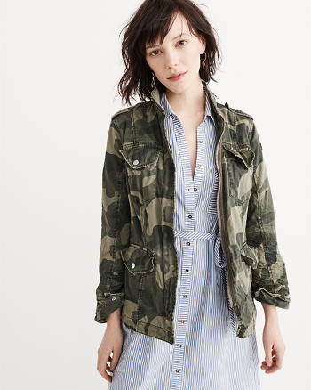 ANF Military Twill Shirt Jacket