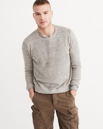 ANF Linen Crew Sweater