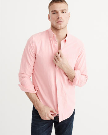 ANF Relaxed Fit Oxford Shirt
