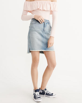ANF Denim Step-Hem Skirt