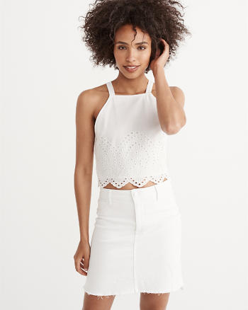 ANF Eyelet Cropped Top