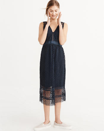 ANF Lace Midi Dress