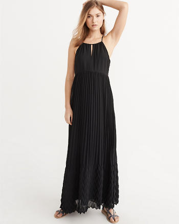 ANF Pleated Maxi Dress
