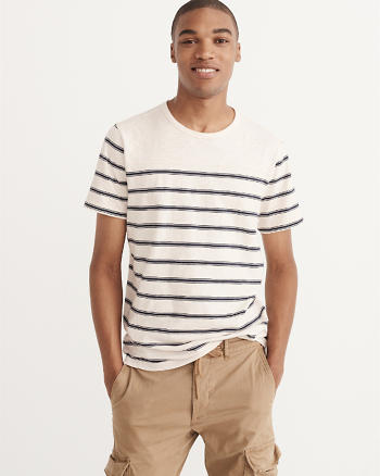 ANF Striped Crew Tee