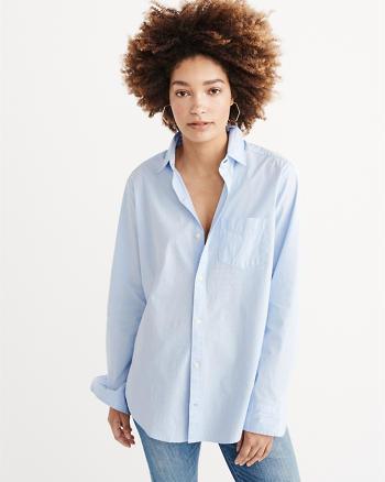ANF Boyfriend Poplin Shirt