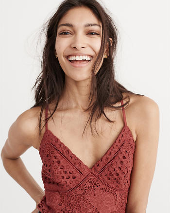 ANF Lace Cropped Top