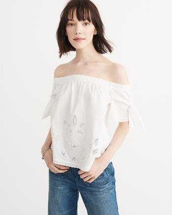 ANF Cutwork Off-The-Shoulder Top