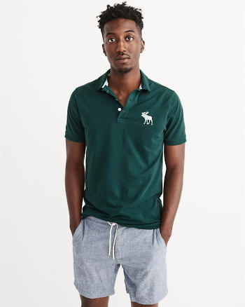 ANF Stretch Pique Polo