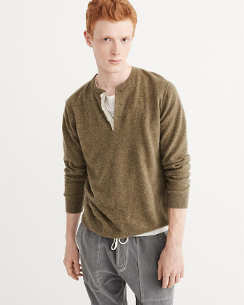 ANF Cashmere Henley Sweater